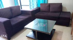 Sofa with Center Table in excellent condition