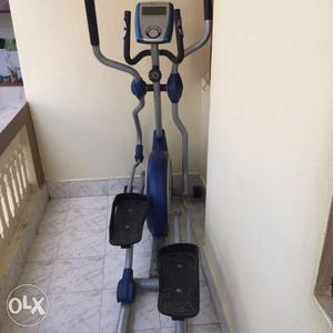 Black,gray,and Blue Elliptical Trainer