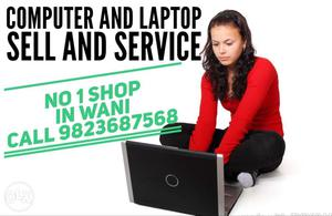 Computer And Laptop Sell And Service Text