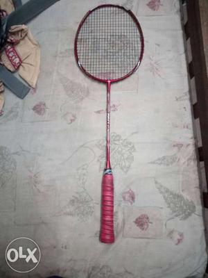 Red Badminton Racket