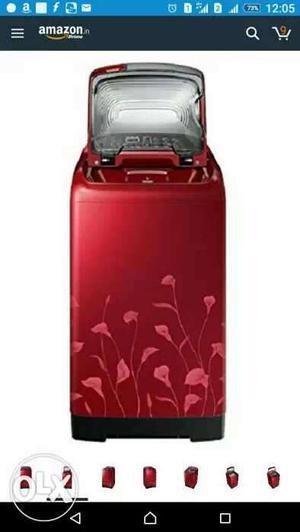 Red Top Load Washing Machine