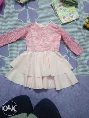 Cute frock for new born baby. 0-1 years.
