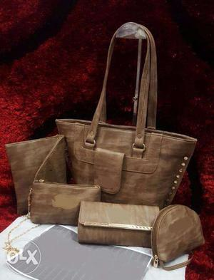 Girls fashion 5 pcs purse combo of good quality available