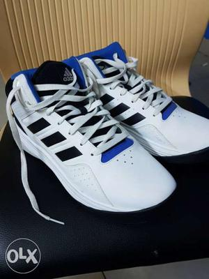 White Adidas Basketball Shoes (almost unused)