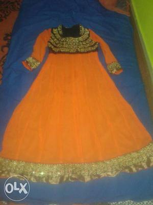 Without inner gown orange and black fixed rate