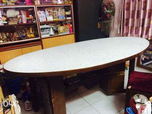 6 seater big dining table and a center table for