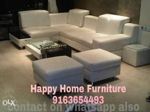 Brand new L shaped sofa set with 5 years warranty
