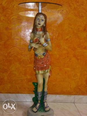 Native American Indian Woman Ceramic Figurine