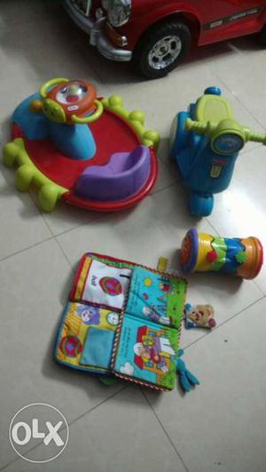 Range of branded toys from fisher price and little tikes for
