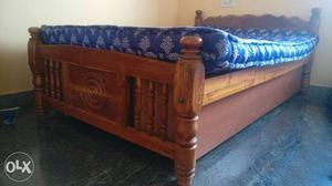 Teak Wood Bed Frame with storage