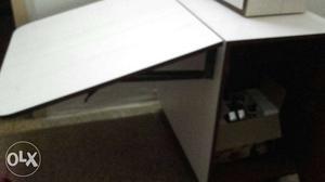 White Foldout Table