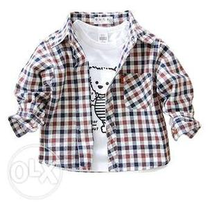 Baby Boys Checkered Casual Wear Shirt for Kids