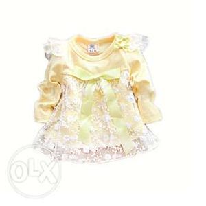 Gorgeous Designer Baby Birthday Dress for 0-3 Months Girls