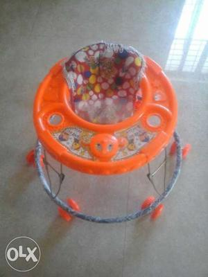 Baby's Orange Animal Themed Walker strong built