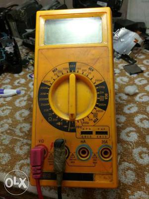 Black And Yellow Digital Multimeter
