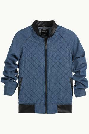 Buy Raglan Denim Zipper Jacket for Mens at Zobello