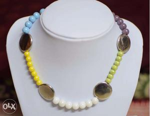 Colorful Glass Beads Necklace Jewelry for Kids !