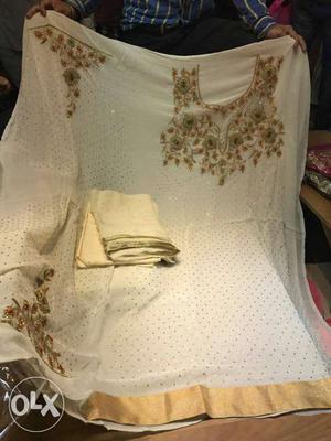 Georgette shirt Santoon bottom Pure dupatta