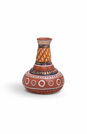 Hand Painted Terra Cotta Pot