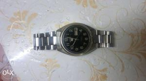Seiko automatic watch with day and date