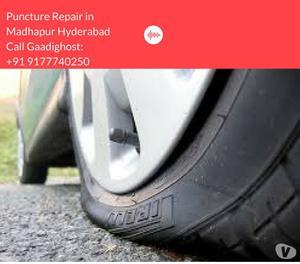Mobile Bike Tyre Puncture Repair in Madhapur Hyderabad