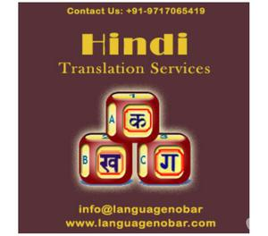 Professional High Quality Hindi Translation Service Company