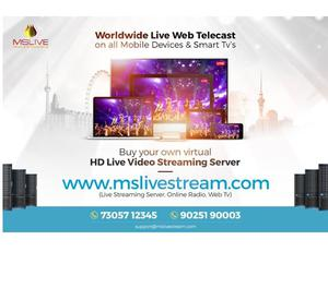 live webcast services mumbai, online live streaming delhi,