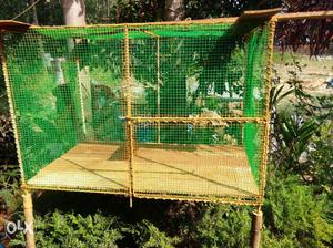 Brown And Green Chicken Coop