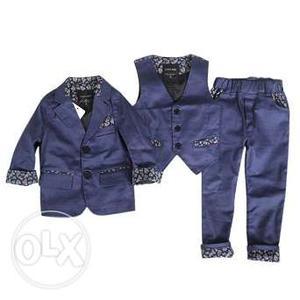 3 Piece Baby Boy Birthday Dress - Kids Party Wear Suit