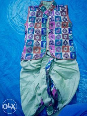 Boy's Dhoti-kurta set both sleeveless n full sleeve