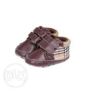 Kids Boy Brown Formal Party Shoes for 6-9 Months