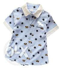 Kids Boys Half Sleeve Party Wear Shirt for Summer