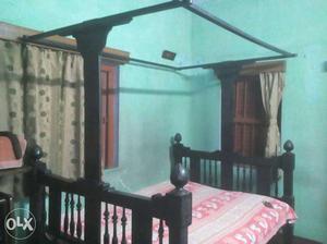Burma Teak Wood Bed