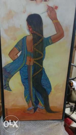 Hand painted canvas frame in very good condition