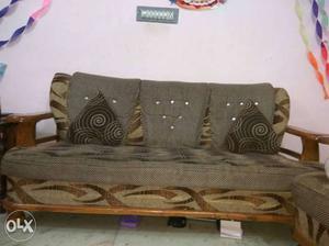 Teak wood sofa set Malaysian pattern 2 year old