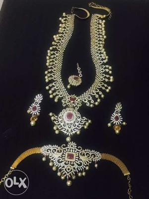 Awsome bridal jewellery set with good finish