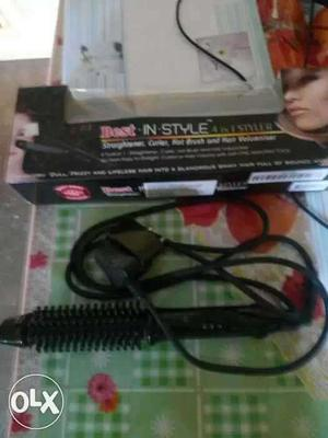 Black Electric Hair Curler With Box