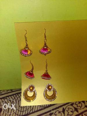 Each set earring 100/- rupees only Silk thread earring