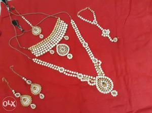 Golden Kundan Bridal Set