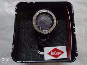 In Box Lee Copper Womens Watch With Black Dial And Black