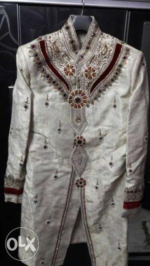 Indo western suit and jutti for men