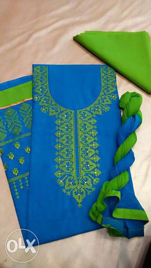 Lawn Cotton top with embroidery work bottom