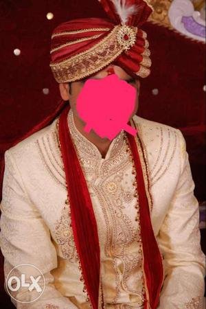 Manyavar shervani wedding dress