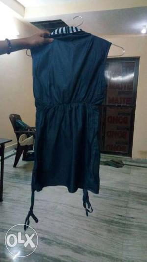 Stylish women's top denim colour unused new top