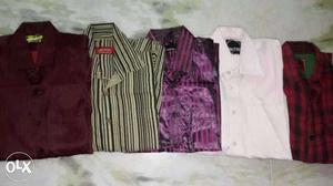 Branded new 4 formal shirts + 1 casual shirt size m/ l
