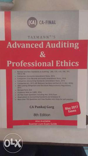 Ca final advance auditing and professional ethic