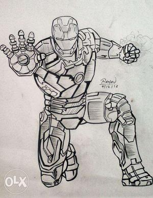 Iron man sketch for sale