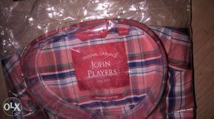 Its a brand new john players casual check shirts