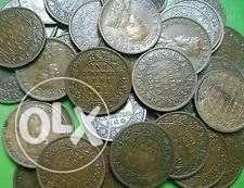 10 coins - King Vi George One Quarter Anna