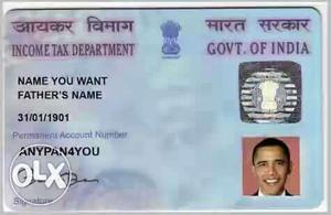 Here you can apply PAN CARD for an individual or
